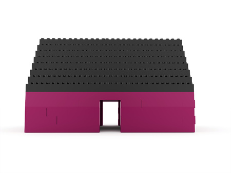 toy house: Toy house isolated on white background