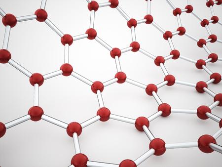 mesh: Molecular mesh tube structure rendered Stock Photo