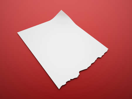 note paper: Blank paper note format rendered Stock Photo