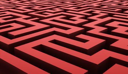 labirinth: Red labirinth business concept rendered