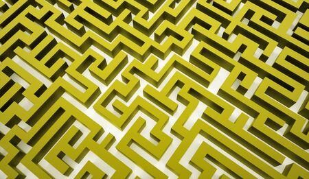 Green labirinth business concept rendered