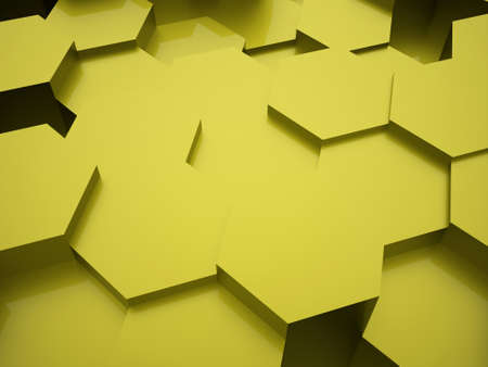 cell wall: Green abstract hexagonal business background rendered
