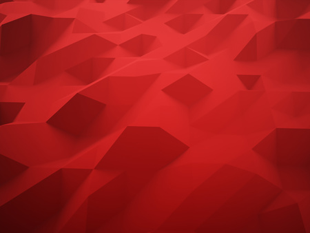 futuristic nature: Red abstract triangle background rendered