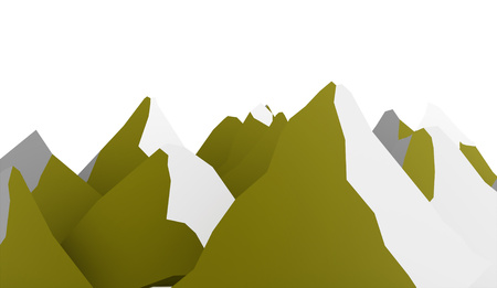 ranger: Green mountain abstract rendered on white background
