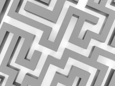 labirinth: Silver labirinth business concept rendered