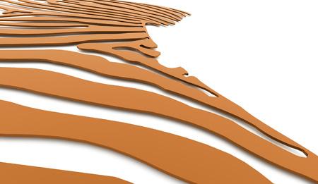 twist: Orange abstract twist light lines background.