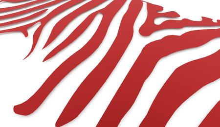 zebra stripes: Red zebra Stripes concept rendered Stock Photo