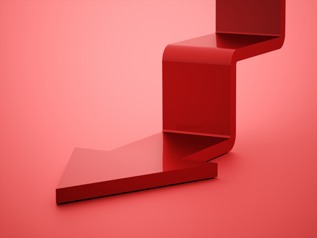 stair: Red stair arrow business concept rendered Stock Photo