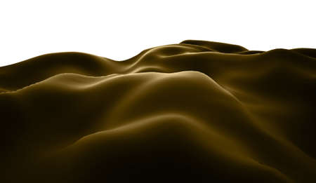lifeless: Brown lifeless landscape with huge mountains Stock Photo