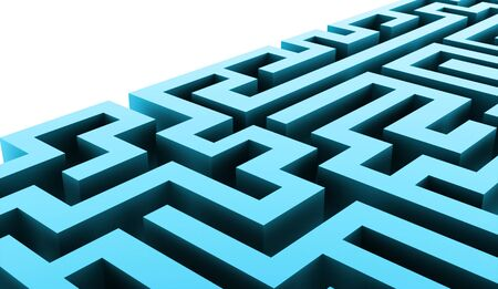 labirinth: Blue labirinth business concept rendered