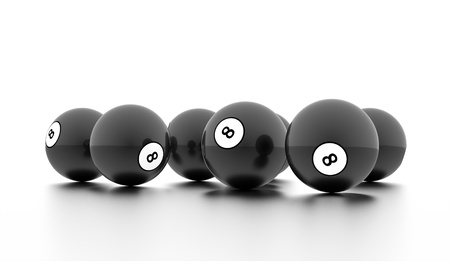 Black eight Ball on a plain white background