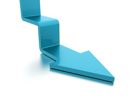 stair: Blue stair arrow business concept rendered Stock Photo