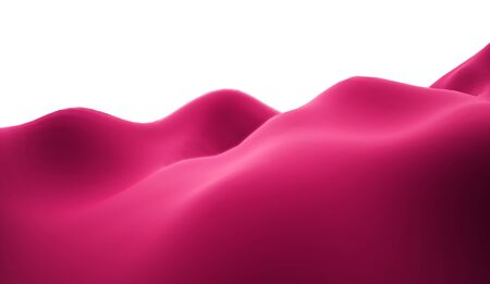 lifeless: Pink lifeless landscape with huge mountains Stock Photo