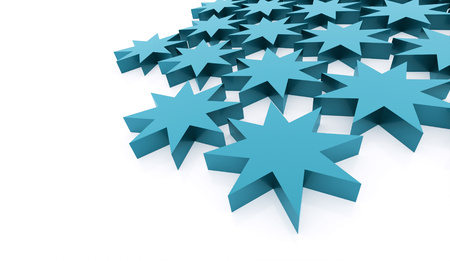 Blue abstract stars background rendered