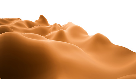 Orange abstract terrain concept rendered