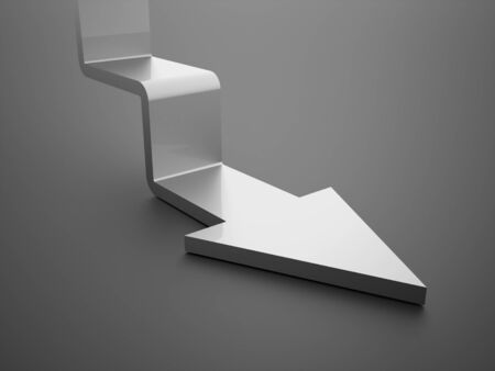 stair: Silver stair arrow business concept rendered