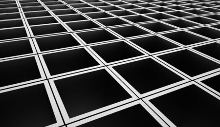 abstract cubes: Silver abstract cubes background rendered