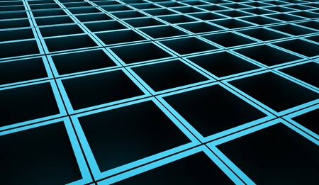 abstract cubes: Blue abstract cubes background rendered Stock Photo