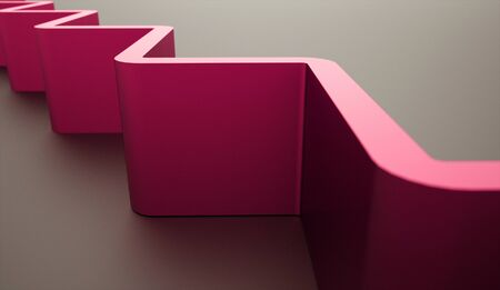 architecture abstract: Pink abstract architecture background structure rendered