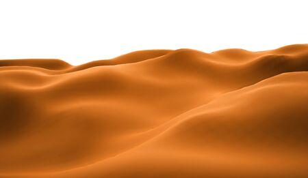 wilderness area: Orange lifeless landscape with huge mountains Stock Photo