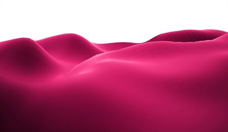pink hills: Pink lifeless landscape with huge mountains Stock Photo