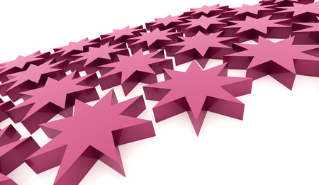 Pink abstract stars background rendered