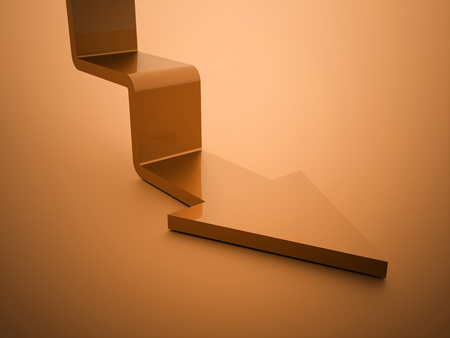 stair: Orange stair arrow business concept rendered Stock Photo