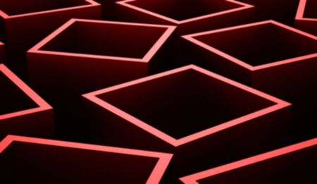 abstract cubes: Red abstract cubes background rendered