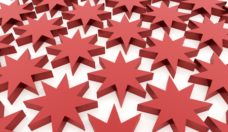 Red abstract stars background rendered Stock Photo