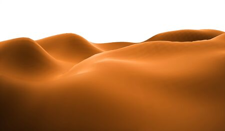 lifeless: Orange lifeless landscape with huge mountains Stock Photo
