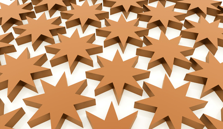 Orange abstract stars background rendered Stock Photo