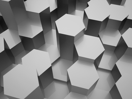cell block: Silver hexagonal background texture rendered