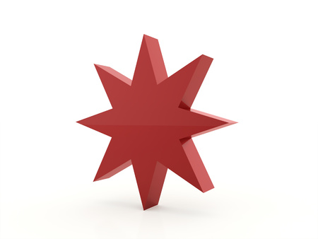 burnish: Red abstract stars background rendered Stock Photo