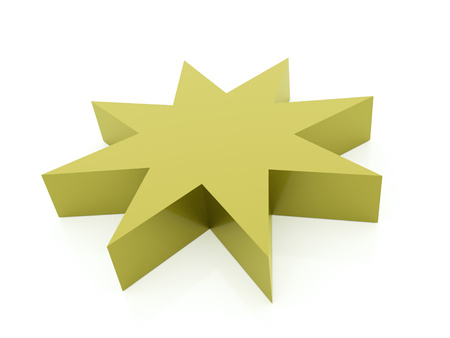 burnish: Green abstract stars background rendered Stock Photo