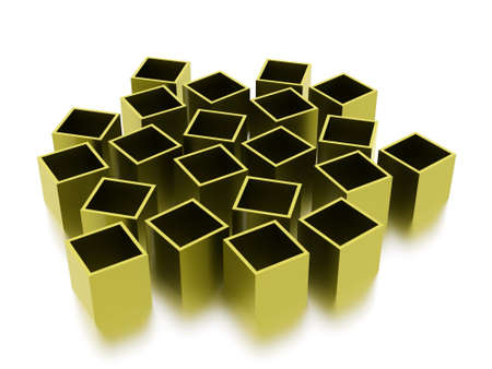 abstract cubes: Green abstract cubes background rendered Stock Photo