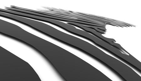 zebra stripes: Black zebra Stripes concept rendered Stock Photo