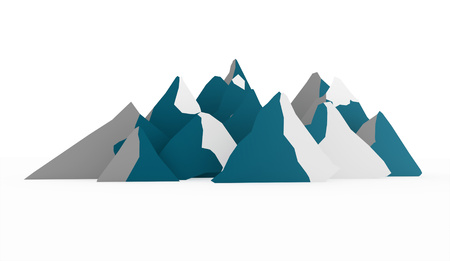 ranger: Blue mountain abstract rendered on white background