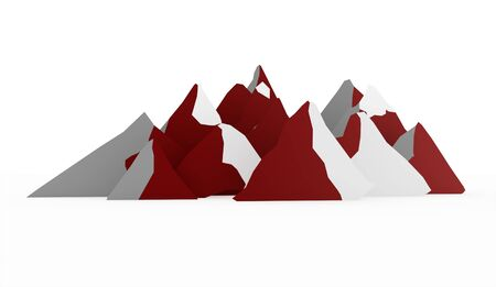 red mountain: Red mountain abstract rendered on white background Stock Photo