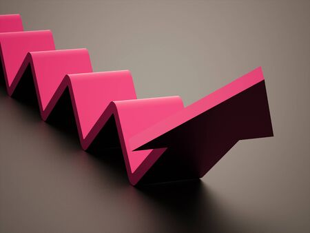 stair: Pink stair arrow business concept rendered