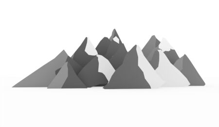 ranger: Silver mountain abstract rendered on white background