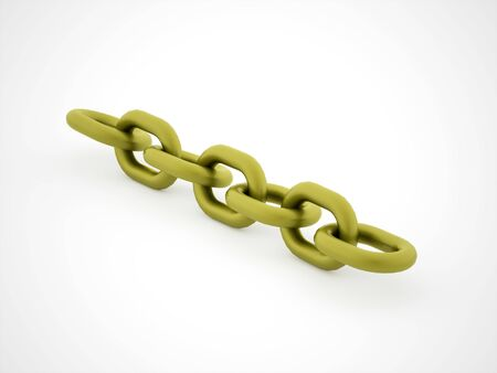 Green chain concept rendered on white background Stock Photo