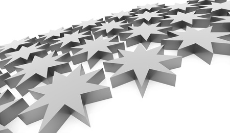 burnish: Silver abstract stars background rendered Stock Photo