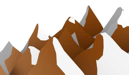 ranger: Orange mountain abstract rendered on white background