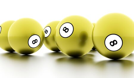 bola ocho: Green eight Ball on a plain white background