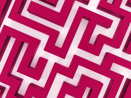 Pink labirinth business concept rendered