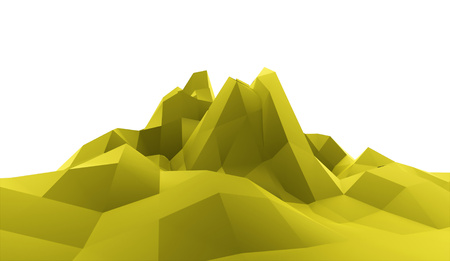 green mountain: Green mountain abstract concept rendered