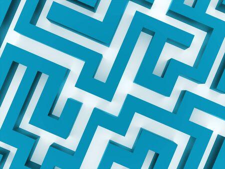 Blue labirinth business concept rendered