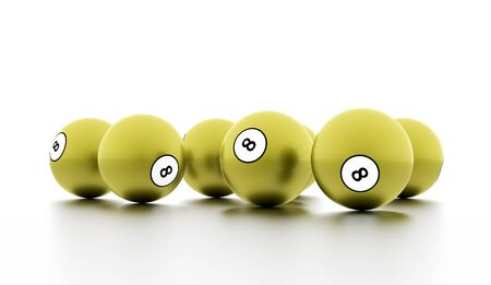 Green eight Ball on a plain white background