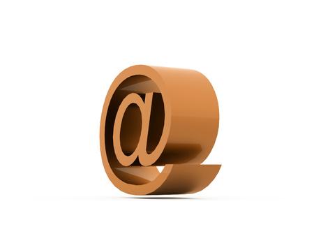 Orange E-mail icons on White Background.