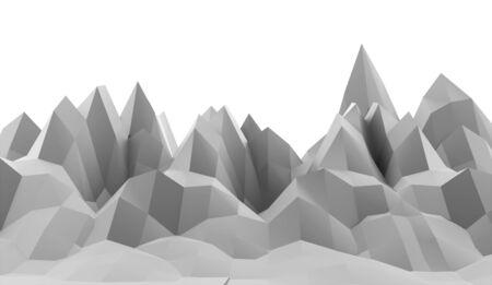 ranger: Silver mountain abstract concept rendered Stock Photo